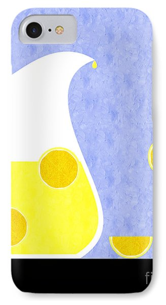 Lemonade And Glass Blue IPhone Case