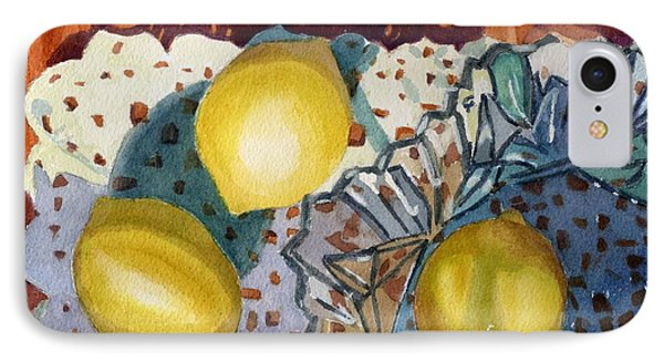 Lemons And Glass IPhone Case by Lynne Reichhart