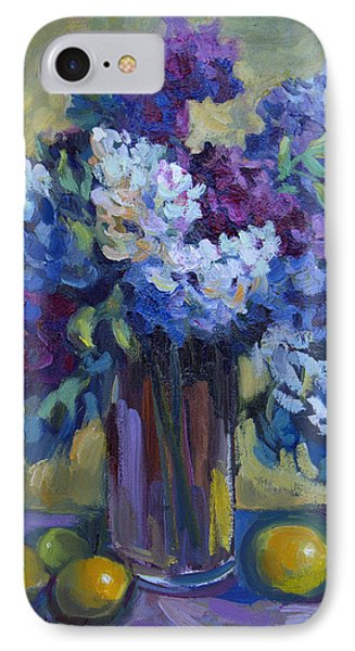 Lemons And Lilacs IPhone Case by Diane McClary