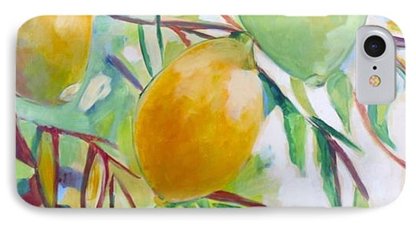 Lemons And Lime IPhone Case by Shelley Overton