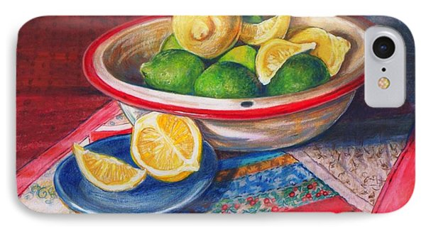 Lemons And Limes IPhone Case by Joy Nichols