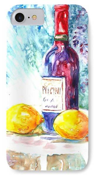 Lemons And Wine And A Little Sunshine Phone Case by Carol Wisniewski