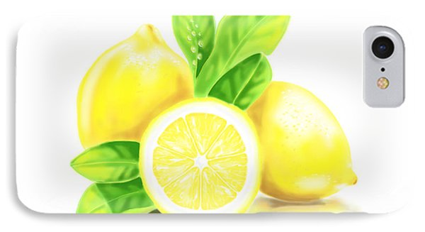 Lemons IPhone Case by Veronica Minozzi