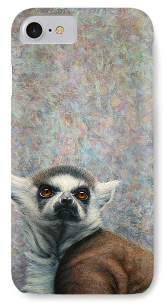 Lemur IPhone Case by James W Johnson