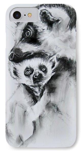 Lemurs  IPhone Case by Jean Cormier