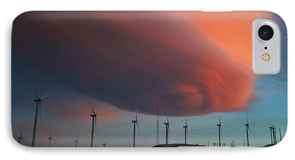 Lenticular Cloud At Sunset IPhone Case by Jane Axman