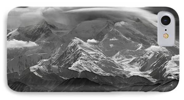 101366-lenticular Cloudcap Over Mt. Mckinley IPhone Case