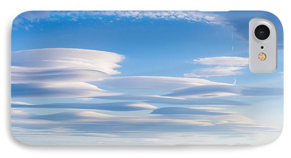 Lenticular Clouds Forming In The Troposphere IPhone Case by Semmick Photo