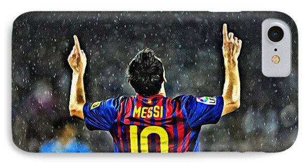 Leo Messi Poster Art IPhone Case
