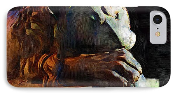 Leo Weeps Phone Case by RC DeWinter