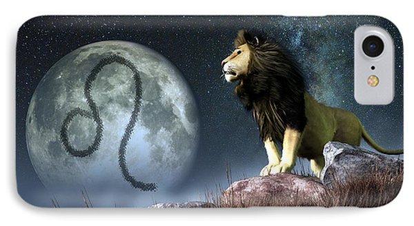 Leo Zodiac Symbol Phone Case by Daniel Eskridge