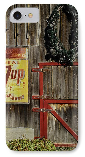 IPhone Case featuring the photograph Leon Johnson Barn by Priscilla Burgers