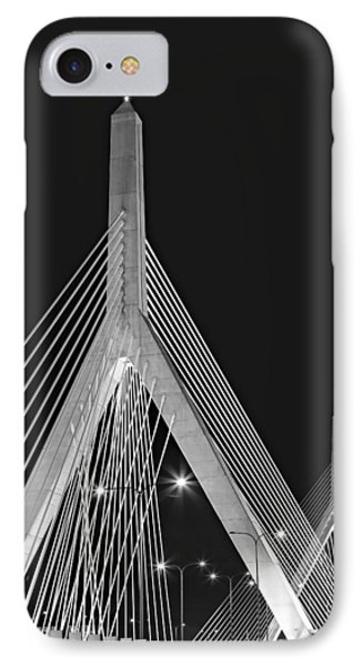 Leonard P. Zakim Bunker Hill Memorial Bridge Bw II IPhone Case