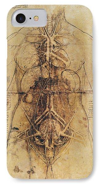 Leonardo: Anatomy, C1510 Phone Case by Granger