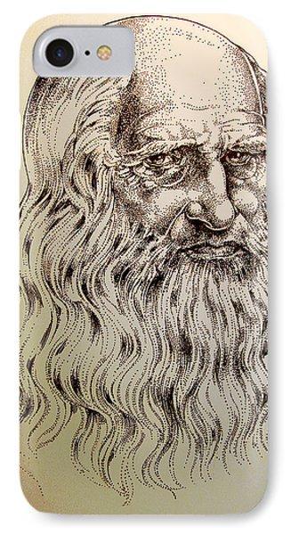 Leonardo Da Vinci Phone Case by Derrick Higgins