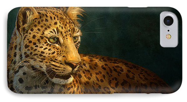 Leopard IPhone Case by Aaron Blaise