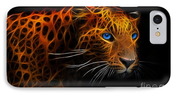 Leopard Fraktal IPhone Case by Bruno Santoro