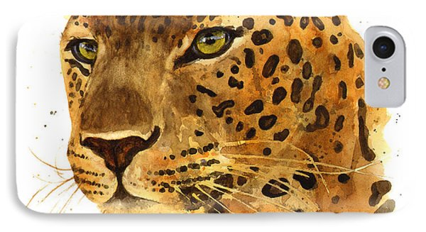 Leopard Gaze IPhone Case by Alison Fennell