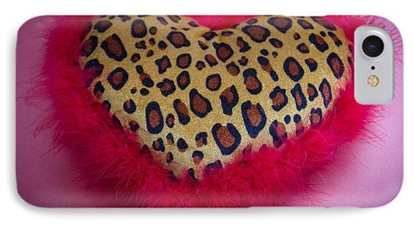Leopard Heart IPhone Case by Patrice Zinck