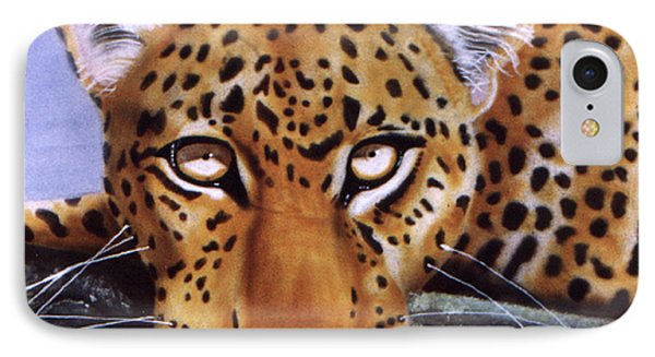 Leopard In A Tree IPhone Case by Thomas J Herring