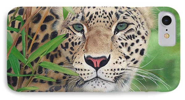 Leopard In The Woods Phone Case by Alina Kaplanov