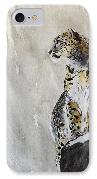 Leopard On A Rock IPhone Case