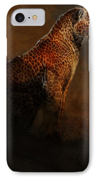 Leopard Portrait IPhone Case by Aaron Blaise