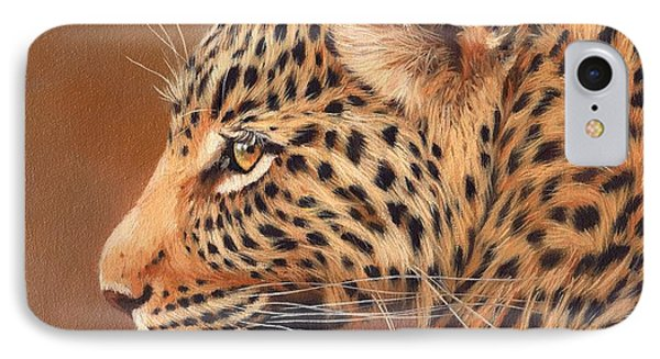 Leopard Portrait IPhone 7 Case by David Stribbling