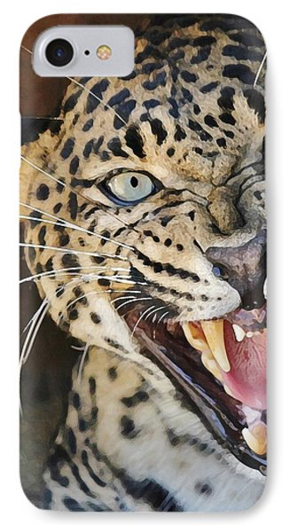 Leopard Snarling IPhone Case