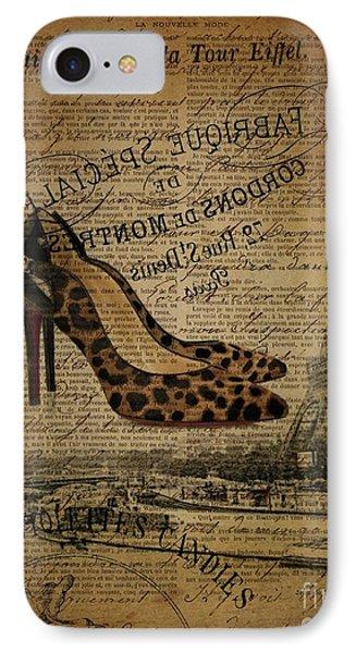 leopard stilettos stiletto French paris eiffel tower IPhone Case