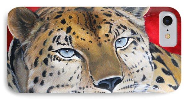 Leopardo IPhone Case by Angel Ortiz
