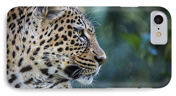 Leopard's Look IPhone Case by Jaki Miller