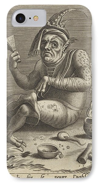 Lepers Beggar In The Guise Of The Devil, Anonymous IPhone Case by Quint Lox