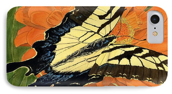 IPhone Case featuring the painting Lepidoptery by Joel Deutsch