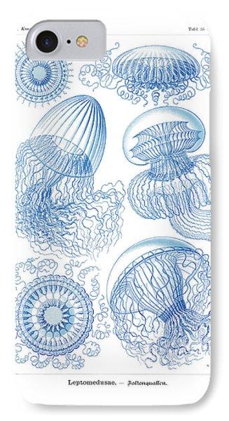 Leptomedusae IPhone Case by Ernst Haeckel