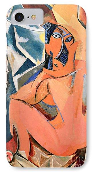Les Demoiselles D'avignon Picasso Detail IPhone Case