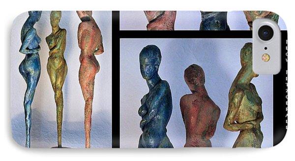 Les Filles De L'asse 1 Triptic Collage Phone Case by Flow Fitzgerald
