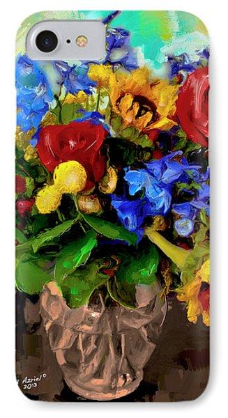 Les Fleurs IPhone Case by Ted Azriel