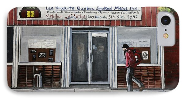 Les Produits Quebec Smoked Meat Inc Phone Case by Reb Frost