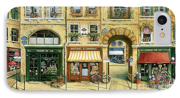 Les Rues De Paris Phone Case by Marilyn Dunlap