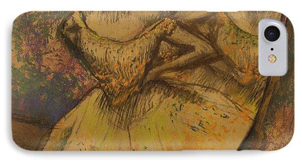Les Trois Danseuses, C.1896-1905 IPhone Case by Edgar Degas