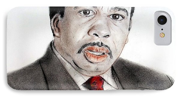 Leslie David Baker As Stanley Hudson On The Office  Phone Case by Jim Fitzpatrick