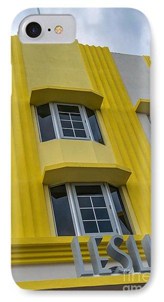 Leslie Hotel South Beach Miami Art Deco Detail 2 Phone Case by Ian Monk