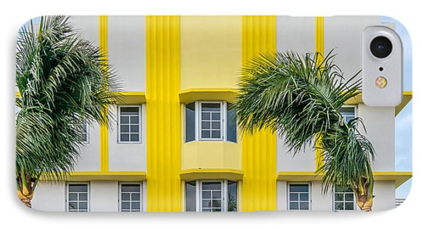 Leslie Hotel South Beach Miami Art Deco Detail 3 Phone Case by Ian Monk
