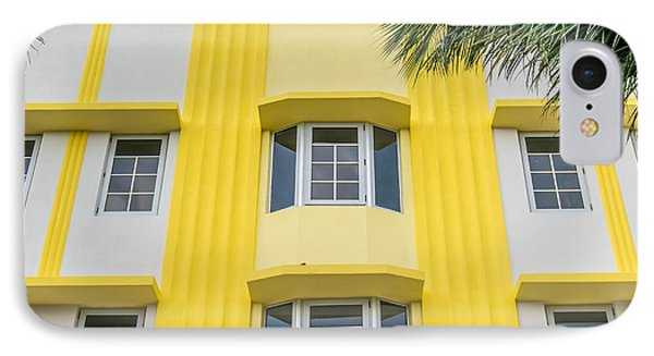 Leslie Hotel South Beach Miami Art Deco Detail - Square Phone Case by Ian Monk