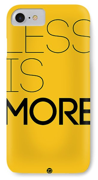 Less Is More Poster Yellow IPhone Case by Naxart Studio