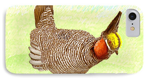 Lesser Prairie Chicken Phone Case by Jack Pumphrey