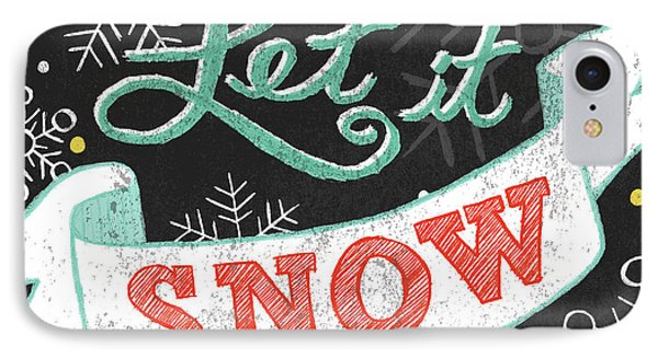 Let It Snow Black IPhone Case by Mary Urban