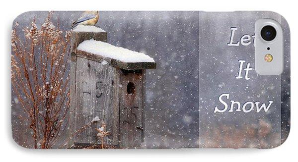 Let It Snow - Bluebirds IPhone Case by Lori Deiter