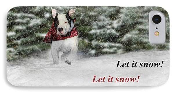 Let It Snow IPhone Case by Shelley Neff